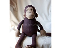 CUSTOM Mitch the Monkey Stuffed Animal - Softie - Stuffed Monkey - Monkey - Custom Monkey - Funky Friends Monkey