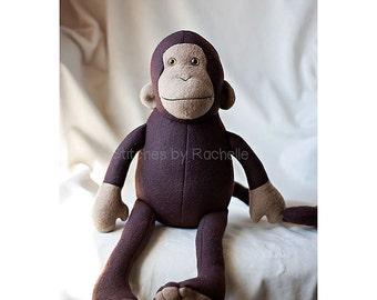 CUSTOM Mitch the Monkey Stuffed Animal - Softie - Stuffed Monkey - Monkey - Custom Monkey - Funky Friends Monkey