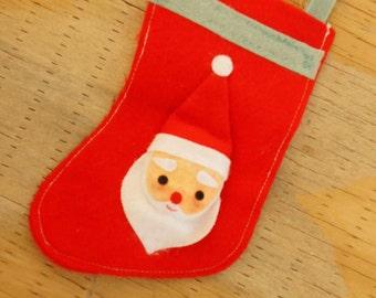 Vintage 50s-60s Stocking Christmas Ornament Retro Mid Century