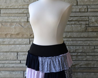 Upcycled Ruffle Skirt. Size L - XL