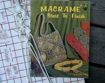 Macrame Purses Pattern Book - Knotted Handbags, Belts, Jewelry