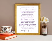 Printable Mother Teresa Inspirational Wall Art Print in Purple Ombre INSTANT DOWNLOAD Typography