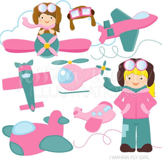 i wanna fly girl version cute digital clipart commercial use clip rh catchmyparty com digital clipart for sale digital clipart for commercial use
