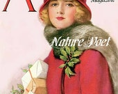 December American Magazine Canvas Photo Paper Print or Cotton Fabric Block, Your Choice. Home Decor Supplies, Wall Decor, Sewing Supplies,