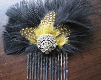 Flower headpiece | festival | silver hair comb | vintage | fascinator | art nouveau