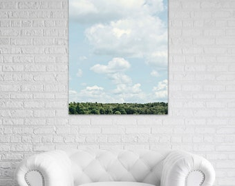 clouds canvas art large blue wall art landscape fine art photography bedroom wall decor living room canvas photo ready to hang art nature