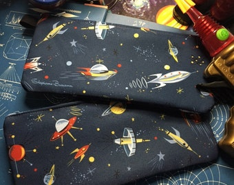 Blast Off! Zippered Pouch