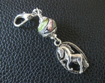 Horse Of Course Purse Cham Zipper Pull