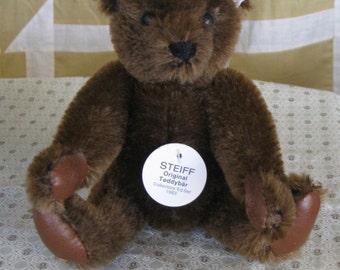 Vintage Miniature Steiff Margaret Strong Chocolate Teddy Bear