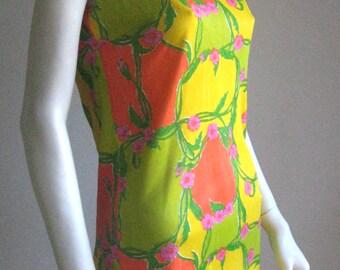60s 70s vintage floral dress
