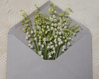 lily of the valley in an envelope-flower photography -flower-cottage garden photography (Original fine art photography prints) FREE Shipping