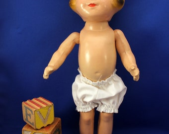 Rare Antique lil Orphan Annie Doll Freundlich 1936 Composition