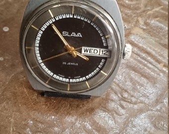 Vintage watch Slava, mens watch, huge watch, men's watches