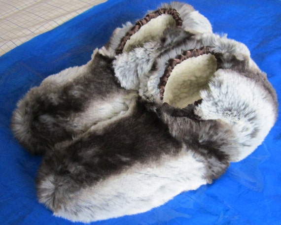 Unisex Novelty Slippers Badger Stripe Fur Unusual Footwear Special Faux Fur Shoe Made to Measure Head Optional Custom Orders Very Welcome.