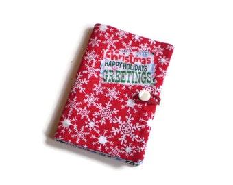 Christmas Tea Bag Wallet, Holiday Teabag Wallet, Christmas Tea Holder, Office Christmas Gift, Tea Bag Holder, Tea Bag Case, Tea Lovers Gift
