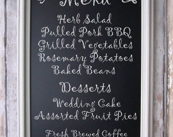 "RUSTIC WEDDING DECOR Chalkboard Magnetic 41""x29"" Outdoor Rustic Wedding Decor Taupe Barn wood Farmhouse Kitchen Decor Perfect Wedding Gift"