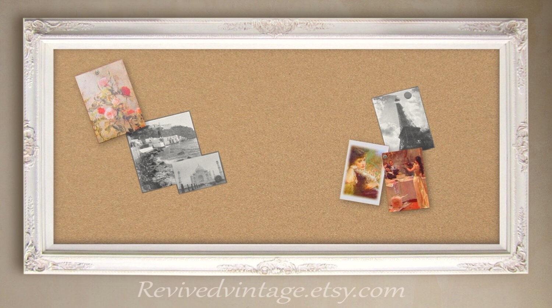 Cork Board Large Framed 56x32 Memo Board White