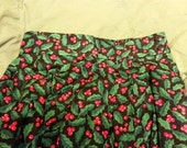 Holly Berry ugly Christmas long skirt - black, women's size small / x-small