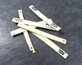 Mah Jongg Bone Counters VINTAGE Bone Mah Jong Counter Sticks Six (6) Ox Bone Counters Mahjong Vintage Art Supplies Game Piece (T125)