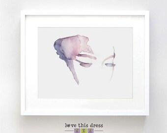 Pink Eyes Watercolor - Fine Art Print