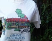The Grand Floridian - vintage 1989 official Walt Disney World beach resort tee shirt, Mickey Mouse, size Small