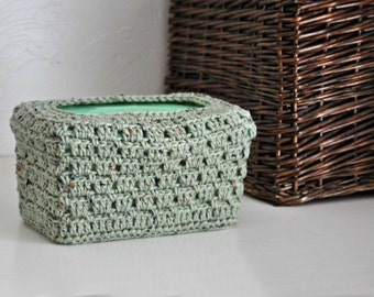 Baby Wipes Box Cover Nursery Decoration  Home Decor Rustic Green Granny Chic