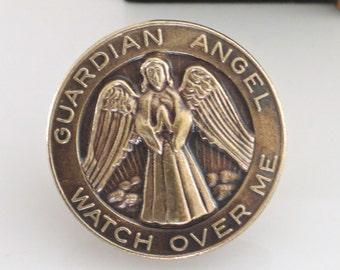 Vintage Brooch - Angel Brooch - Guardian Angel Jewelry - Angel Pin - Brass jewelry - Angel Jewelry - handmade jewelry