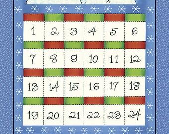 Snowed Inn Advent Calendar Fabric Panel Kit Snowman Christmas