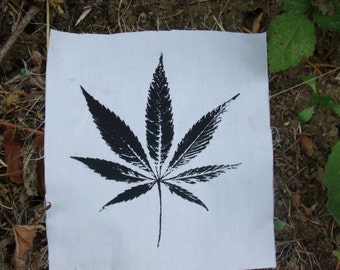 Marijuana Leaf Patch - pot, weed, cannabis, screenprint, 420, sativa, indica, bud, green, herb, ganja, legalize it, plant, hippy, hippie