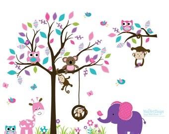 Nursery wall decal - Wall Decals Nursery - Tree Wall Decal. Girl Wall Decal Tree. Nursery Decals - Tree Girl