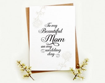 Wedding day cards. Choose recipient. Elegant and modern wedding Thanks you notecards. Family wedding cards. WC485