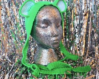 Neon Green Bear Ears Headband