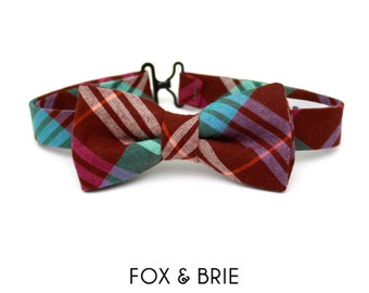 Jewel Plaid Kids Bow Tie
