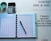 WORK - Clean Mama's EVERYDAY Work @ Home Kit - aqua+black - 12 documents - Instant Download
