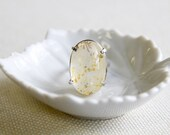 Daring Dendritic Quartz and Sterling Siver Ring