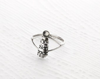 Light House Sterling Silver Ring