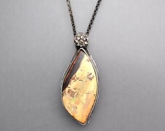 Rustic Boulder Opal Necklace
