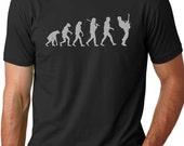 Guitar Player Evolution Tshirt cool Musician T-shirt screenprinted