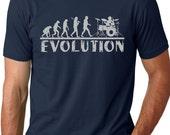 Drummer Evolution T-shirt Music Humor Drums Funny Tee