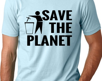 Save The Planet Atheist T-Shirt Funny Atheism Tee