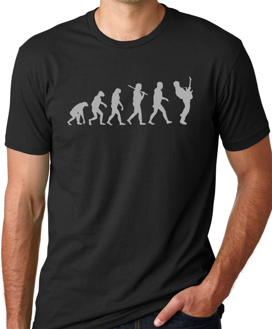 Guitar Player Evolution Tshirt cool Musician T-shirt