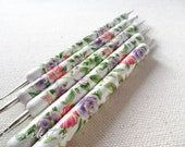 Nail Art Dotting Tool 5 Boho Roses Flower Design Stylus Art modeling double ball set metal polymer clay 2 way also for miniatures work