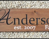 Last Name Sign, Carved Sign, Name Sign, Personalized Signs, Family Sign, Family Name Sign, Wood Signs, Engraved Sign, Wood Name Sign