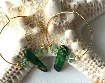 Golden Forest Gemstone Earrings