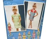 Simplicity 3510 Project Runway Pattern Girls Dress Pattern Sewing Pattern Sewing for Girls Uncut Pattern Girls Summer Dress, DIY Girls Dress