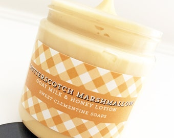 Lotion, Butterscotch Marshmallow Lotion, Body Lotion, Hand Lotion, Halloween, Fall, Autumn, Butterscotch, Marshmallow, Lotion, Cream