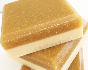 Soap, Sweet Cornbread Loofah Soap, Exfoliating Soap Bar, Luffa Soap, Loofah Soap, Scrub Soap, Baked Bread, Maple, Soap