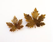 Fall Hair Accessories Copper Maple Leaf Barrettes Bridal Clips Bride Bridesmaids Autumn Rustic Woodland Weddings Nature Womens Gift For Her