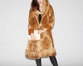 1960s Patchwork Fox Fur 3/4 Length Coat   - Vintage Fox Fur Coat  - Vintage Fur Coats   - WO0013