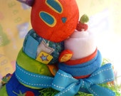 Diaper Cake..The Hungry Caterpillar..Pajamas, Blanket, Bibs.. 40 Baby Items..Hungry Caterpillar Toy.. Baby Shower..Baked.. Ready to Ship :)